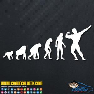 Bodybuilding Evolution Decal Sticker