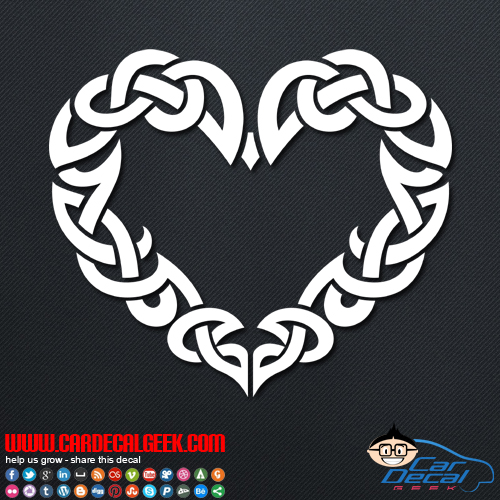 Cletic heart decal