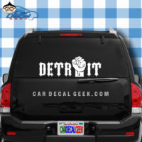 Detroit Fist Car Window Sticker Decal