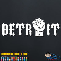 Detroit Fist Decal