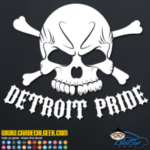 Detroit Pride Decal