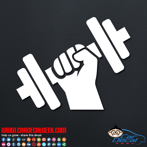 Dumbbell Decal Sticker