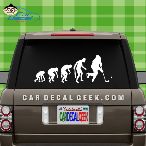 Hockey Evolution Car Window Decal