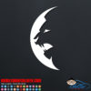 Lion Moon Decal Sticker