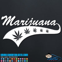Marijuana Atheltic Decal Sticker