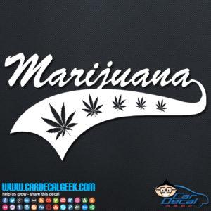 Marijuana Atheltic Decal Sticker