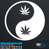 Pot Leaf Yin Yang Decal Sticker