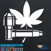 Pot Leaf & Pipe Decal Sticker