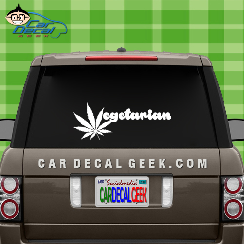 Marijuana vegetarian car window decal sticker marijuana vegetarian decal sticker