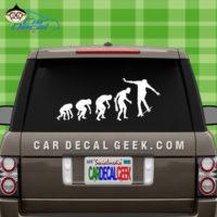 Skateboarding Evolution Car Window Decal Sticker