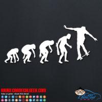 Skateboarding Evolution Decal Sticker