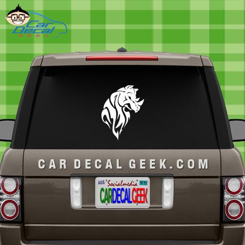 Tribal Rhino Car Window Decal Sticker