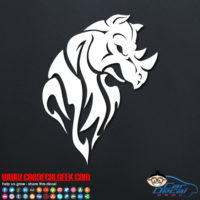 Tribal Rhino Decal Sticker