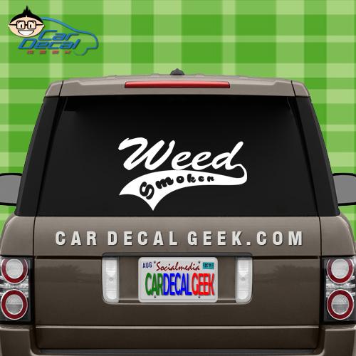 Weed Smoker Vinyl Car Decal Sticker
