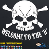 Welcome to the D Decal Sticker