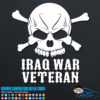 Iraq War Veteran Skull Decal Sticker