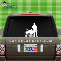 Veteran Soldier Car Window Decal Sticker