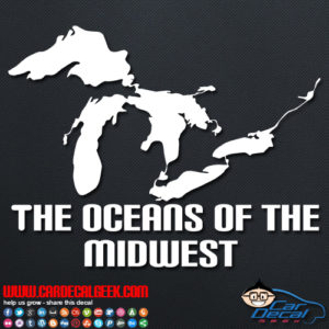 Great Lakes Oceans of the Midwest Decal Sticker