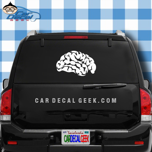 Human Brain Vinyl Car Window Decal Sticker