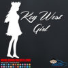 Key West Girl Car Window Decal Sticker