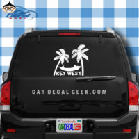 Key West Tropical Hammock Car Window Decal Sticker