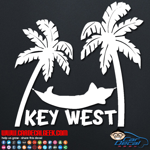 Key West Tropical Hammock Decal Sticker