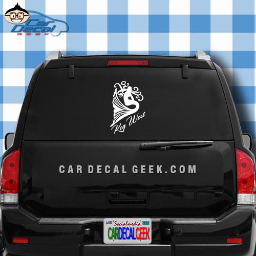 Key West Mermaid Car Window Decal Sticker