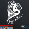 Key West Mermaid Decal Sticker