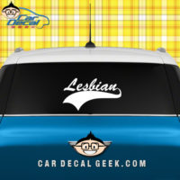 Lesbian Athletic Car Window Decal Sticker