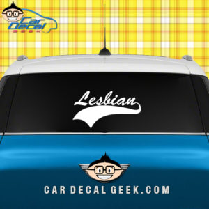 Lesbo Athletic Car Window Decal Sticker