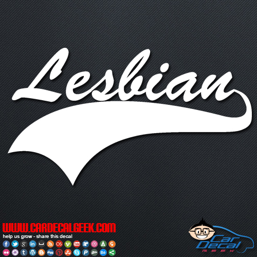 Lesbian Athletic Decal Sticker
