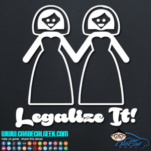 Lesbian Gay Marriage Legalize It Decal Sticker