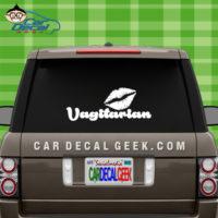 Vagitarian Lesbian Car Window Decal Sticker