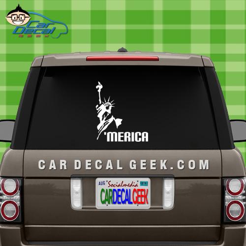Merica Statue of Liberty Decal Sticker