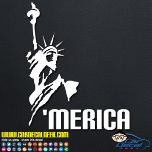 Statue of Liberty 'Merica Vinyl Decal