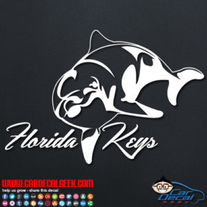 Florida Keys Dolphin Decal