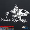 Florida Keys FIsh Skeleton Decal Sticker