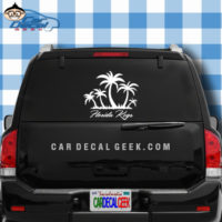 Florida Keys Tropical Palm Tree Island Sticker
