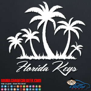Florida Keys Tropical Palm Tree Island Decal