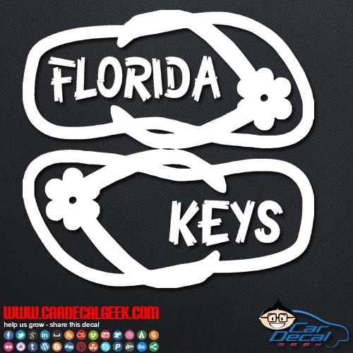 Florida keys flip flops decal