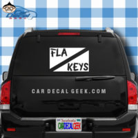 FLorida Keys Scuba Dive Flag Sticker