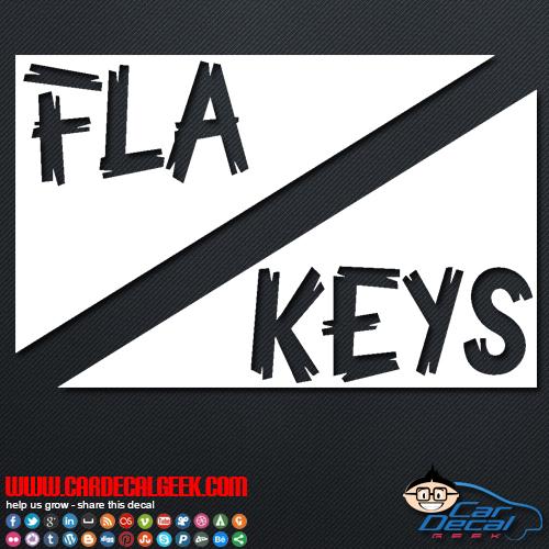 Florida keys scuba dive flag decal
