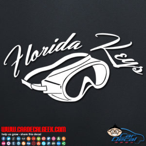 Florida Keys Scuba Mask Decal