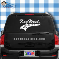 Key West Athletic Palm Trees Car Window Decal Sticker