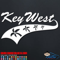 Key West Athletic Palm Trees Decal Sticker