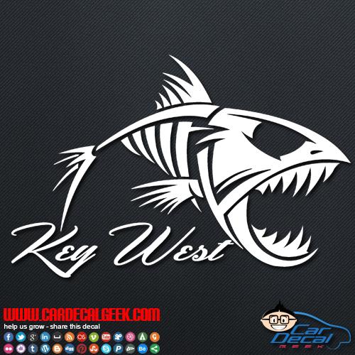 Key West Fish Skeleton Decal