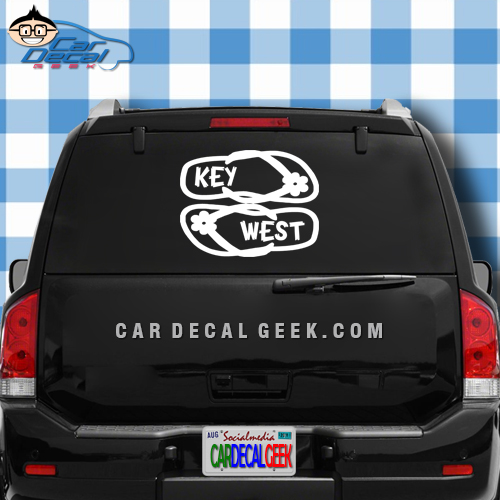 Key West Flip Flops Car Window Decal Sticker