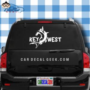 Key West Hammerhead Shark Car Window Decal Sticker