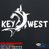 Key West Hammerhead Shark Decal Sticker