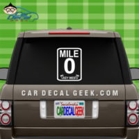 Key West Mile Marker 0 Car Decal Sticker